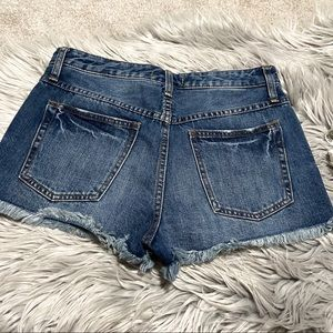 Free People • Distressed Jean Shorts